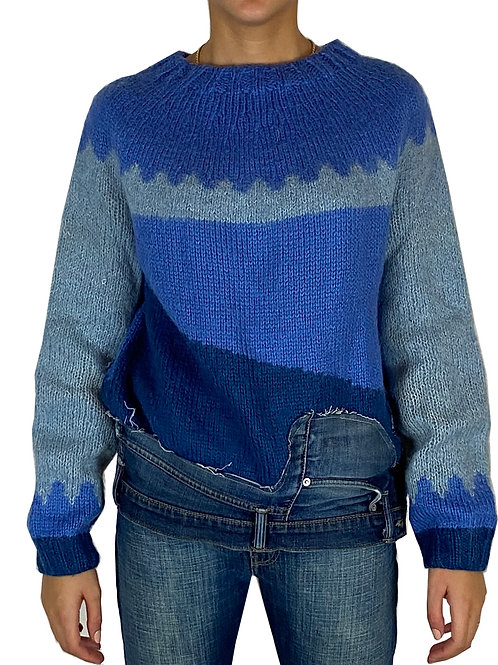 Maglione con jeans