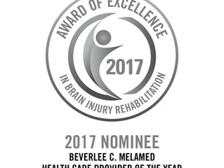 2017 Awards of Excellence in Brain Injury Rehabilitation- Health Care Provider of the Year