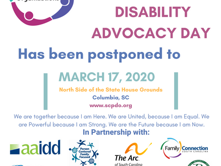 Disability Advocacy Day Postponed