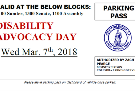 Parking Passes are available!