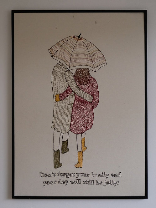 DON'T FORGET YOUR BROLLY ORIGINAL - 50 cm x 70 cm