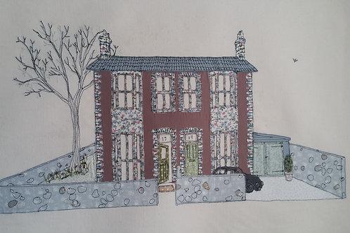 PINK HOUSE ORIGINAL - 45 cm x 54 cm