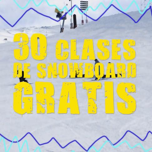 30 CLASES DE SNOWBOARD GRATIS
