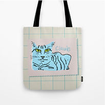 Blue Claude Tote Bag