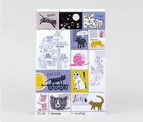 Cat Artist Stamps