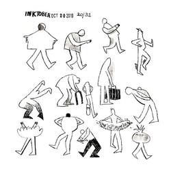 Ink Figures | Sarah Wildfang