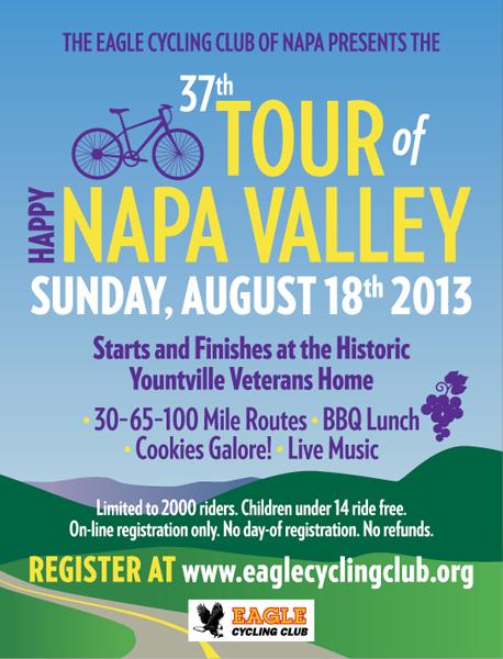 Tour of Napa 1/4 page magazine ad