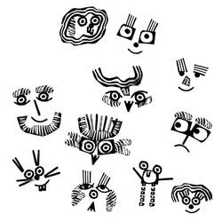 Stamp Shape Faces | Sarah Wildfang