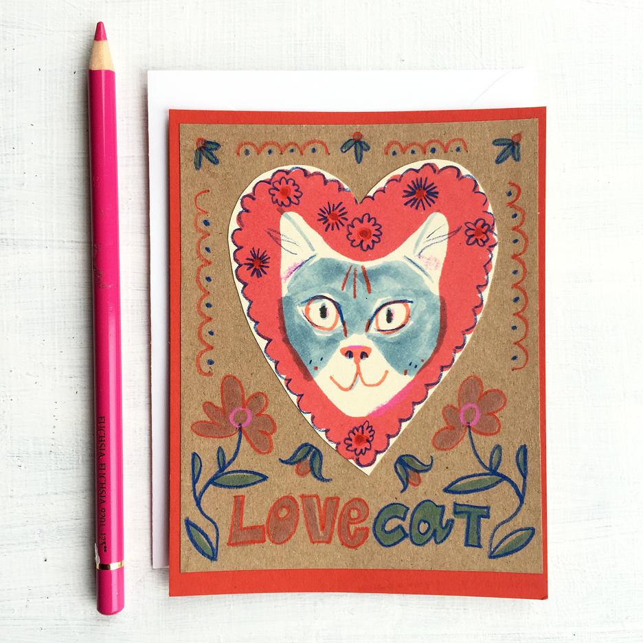 Love Cat Card | Sarah Wildfang