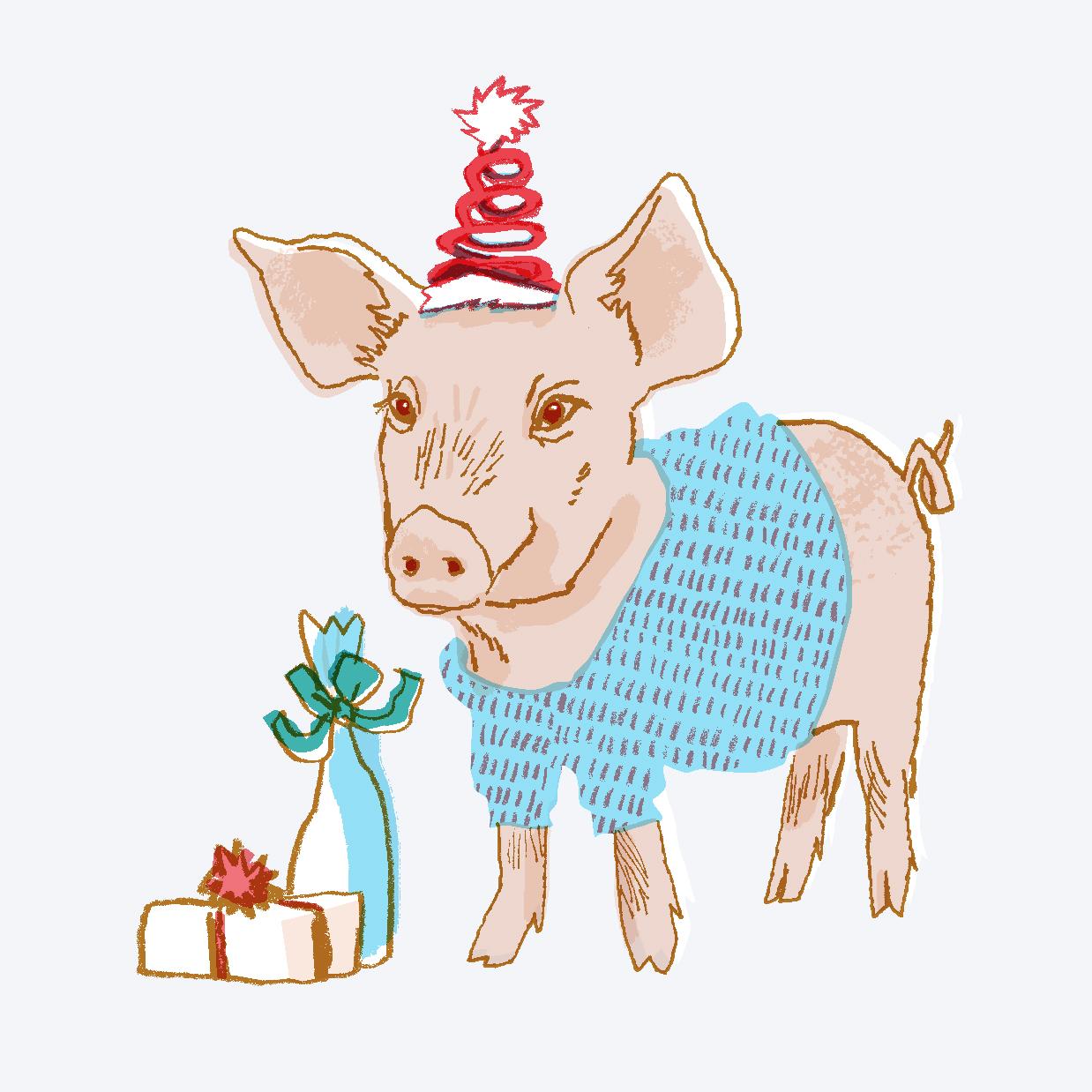 Holiday Party Pig | Sarah Wildfang