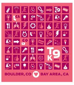 2014 Title 9K Race Tee & Bag graphic