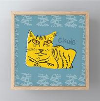 Framed Orange Cluade Mini-print