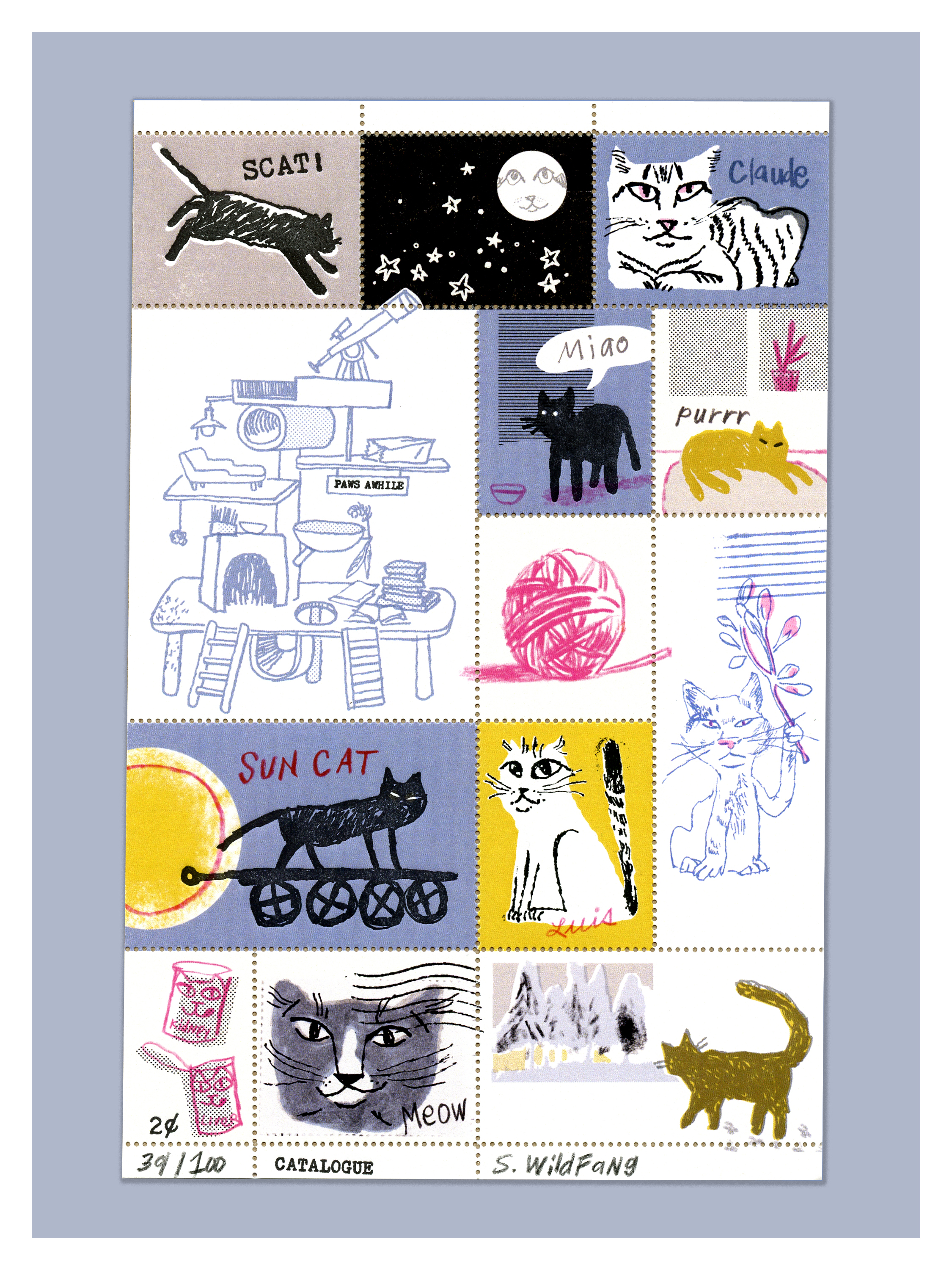 Cat Artiststamps | Sarah Wildfang