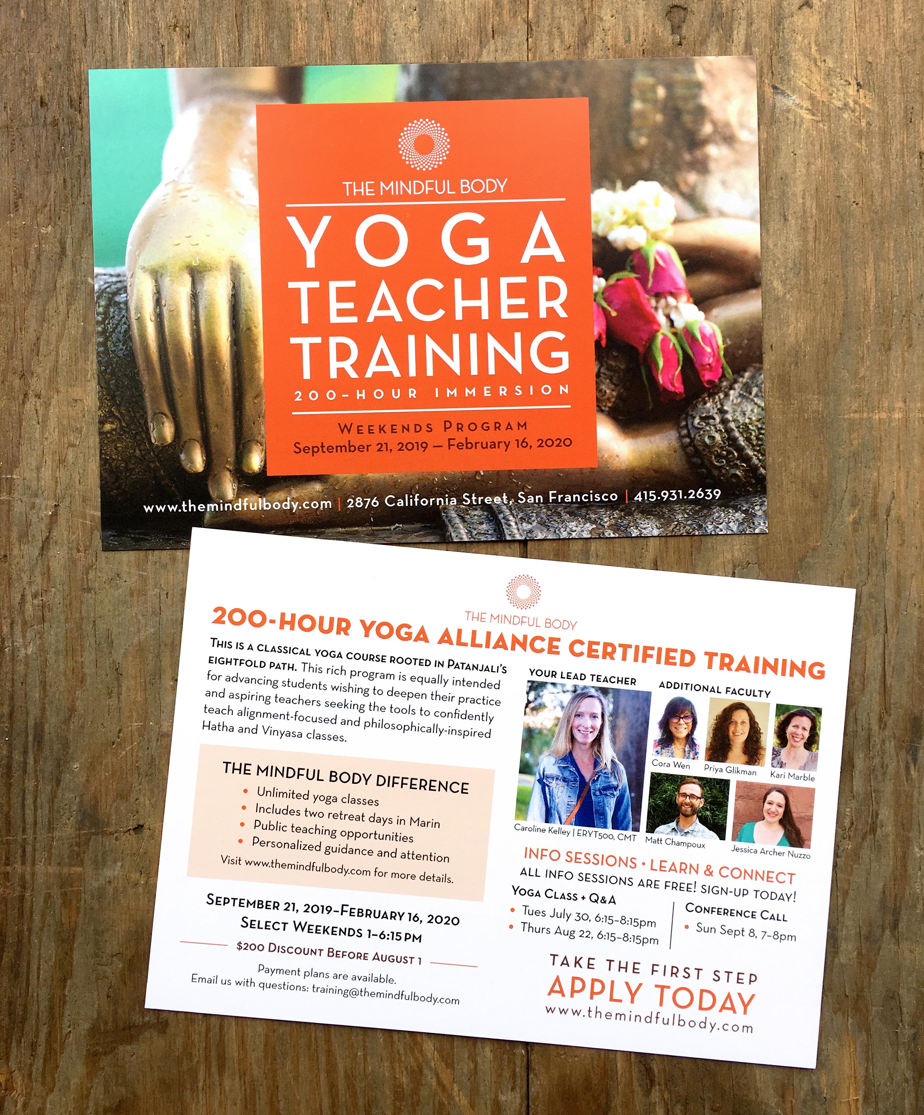 Yoga Teacher Training postcard