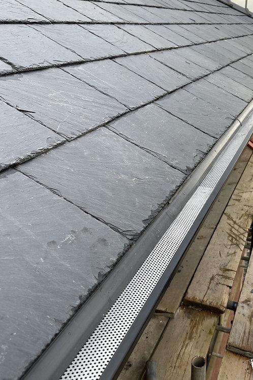 Aluminium Seamless Gutter 5x4 (125mmx102mm) Length 2.5Metres