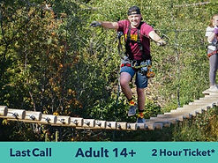 Teenager on high ropes course