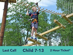 child on high ropes course