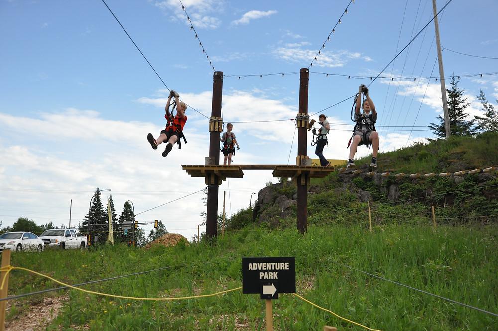 Ziplines, North Shore Adventure Park