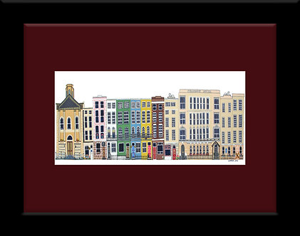 Framed 8x6in Westbourne Place, Cobh, Cork, Ireland.