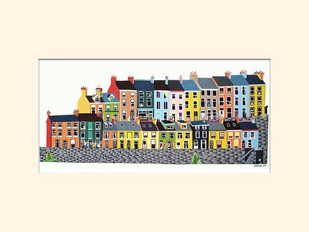 8x6in East Hill, Albert Terrace, Cobh, Cork, Ireland.