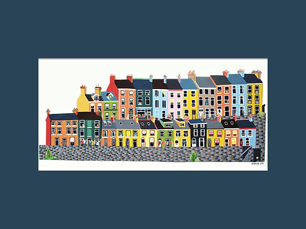8x6in East Hill, Albert Terrace, Cobh, Cork, Ireland.