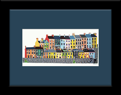 Framed 8x6in East Hill, Albert Terrace, Cobh, Cork, Ireland.