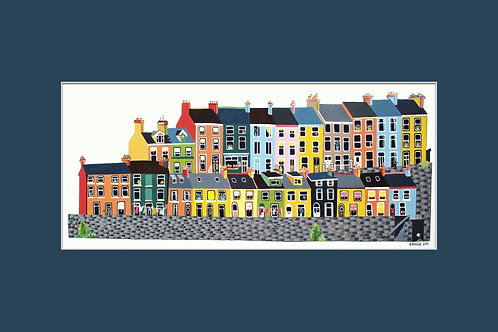 12x8in East Hill, Albert Terrace, Cobh, Cork, Ireland.