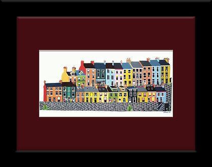 Framed 8x6in East Hill, Albert Terrace, Cobh, Cork, Ireland.