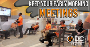 Keep your Early Morning Meetings