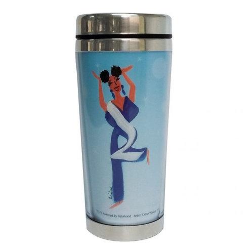 POWERED BY SISTAHOOD Travel Mug