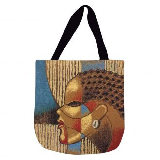 COMPOSITE OF A WOMAN Woven Tote Bag