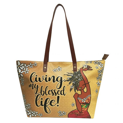 LIVING MY BLESSED LIFE HANDBAGS, KIWI MCDOWELL