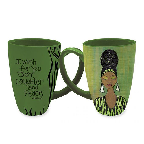 I Wish For You Joy, Laughter and Peace Latte Mugs