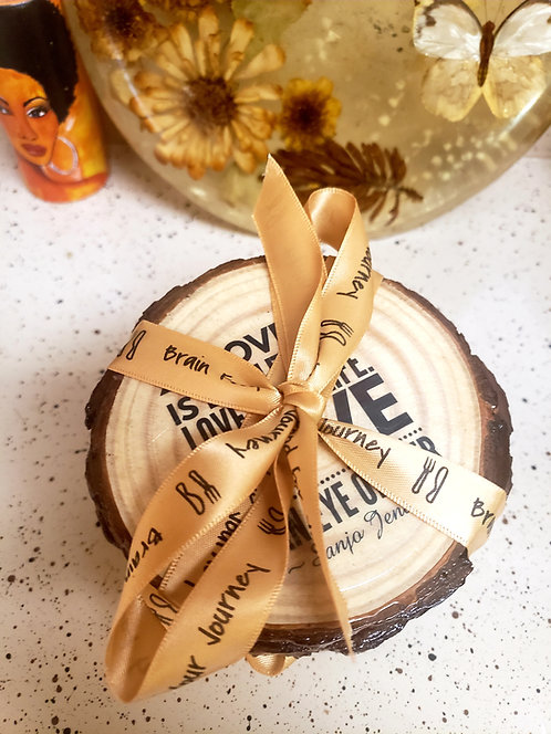 Brain Food for Your Journey Hand-crafted Wood Quotsters