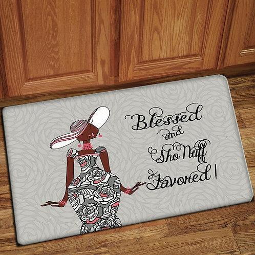 BLESSED AND SHO NUFF FAVORED INTERIOR FLOOR MATS