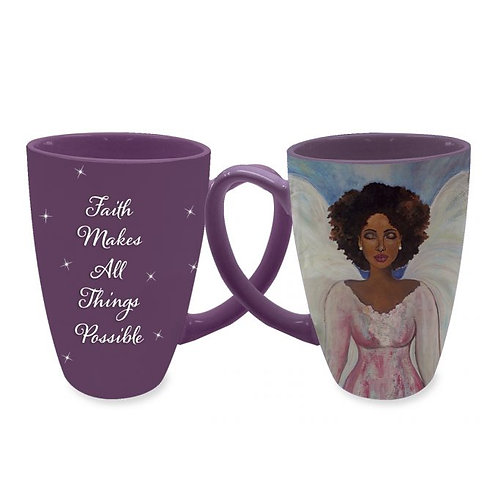 Faith Makes All Things Possible Latte Mugs