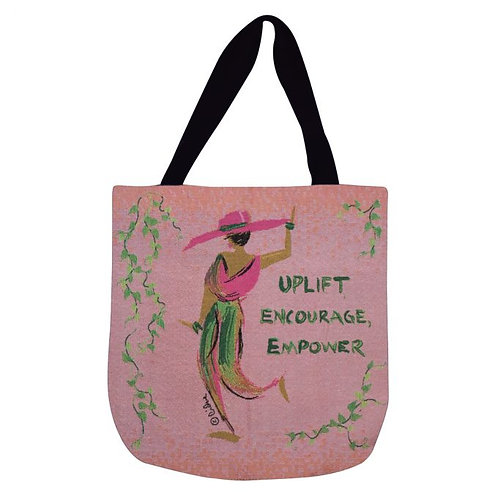 UPLIFT, ENCOURAGE EMPOWER Woven Tote Bag