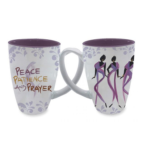 Peace, Patience, and Prayer Latte Mugs