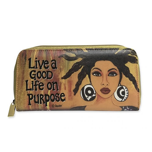 LIVE A GOOD LIFE ON PURPOSE LONG WALLETS
