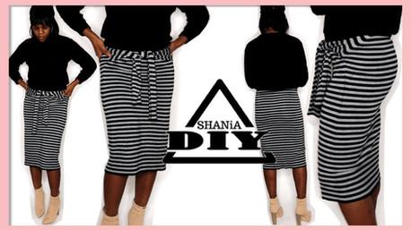 DIY Tie Front Midi Skirt