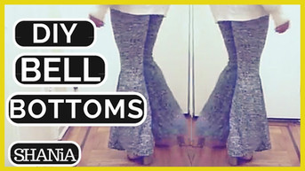 How to Make Stretchy Bell Bottom Pants From Scratch