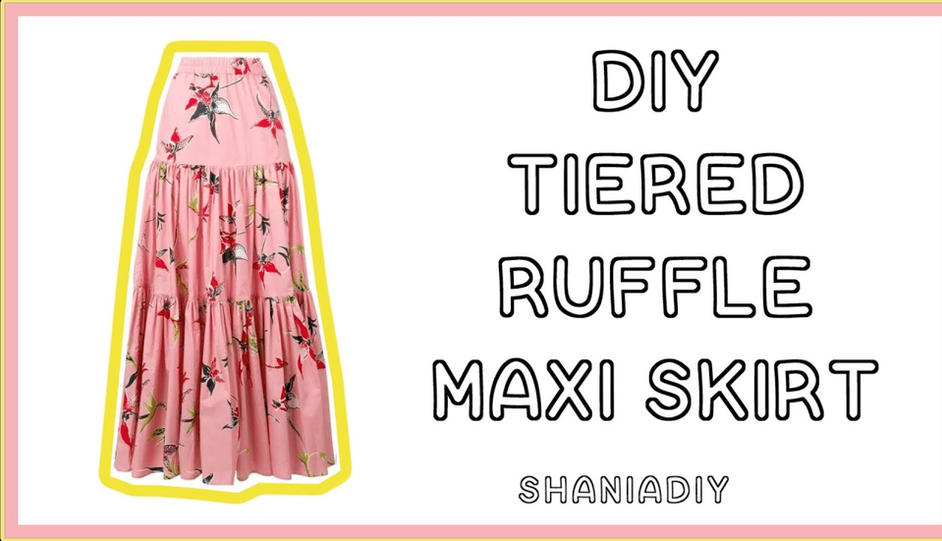 DIY Tiered Maxi Skirt