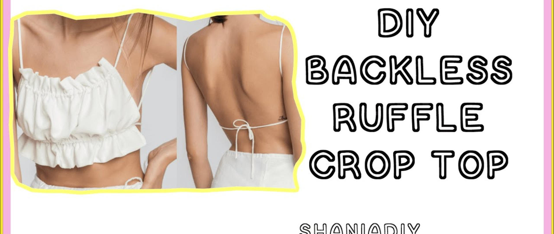 DIY Backless Ruffle Top
