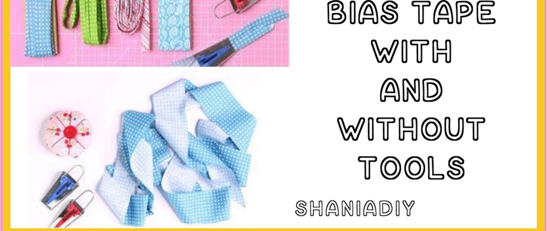 Click to learn how to make bias tape by hand and also with a bias tape maker kit.