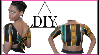 How to Make a Tie Back Crop Top