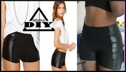 DIY Shorts with Leather on the Sides
