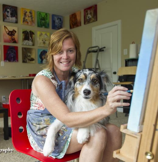 Leiann Klein Artist with Jasmine