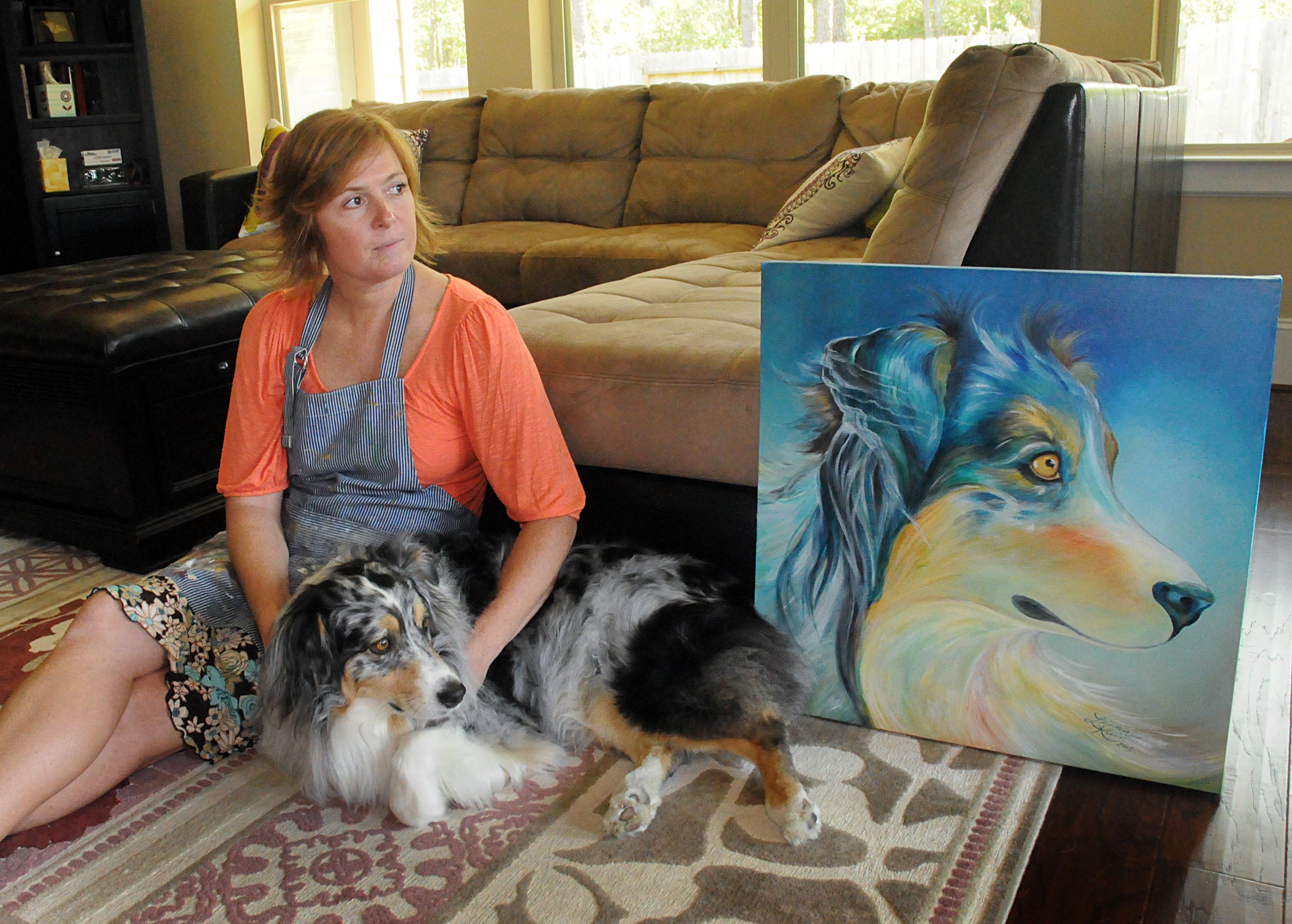 Artist Leiann Klein and Jasmine x 2