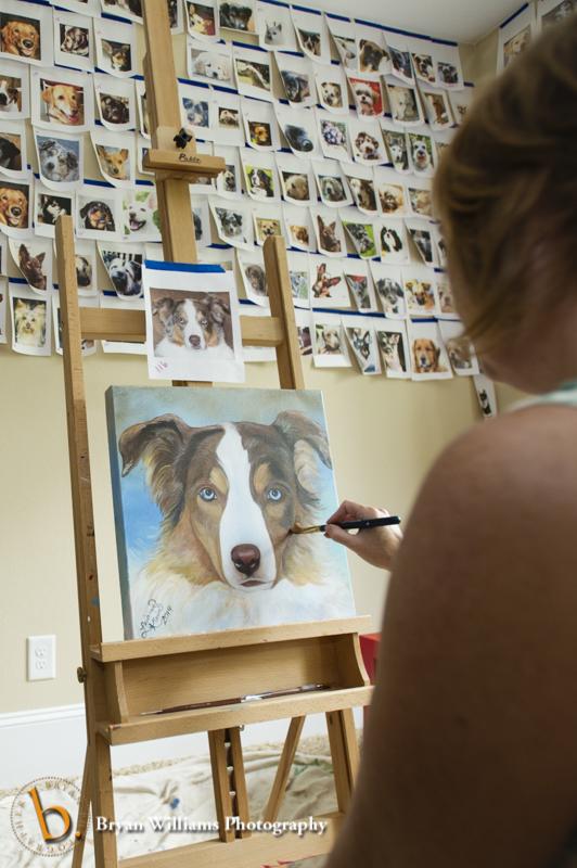 Leiann Klein painting Maggie Mae