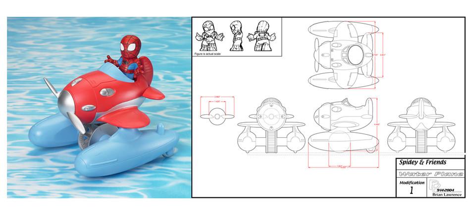 Spiderman Bathtub Toy